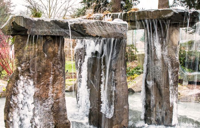 mini stone henge frozen